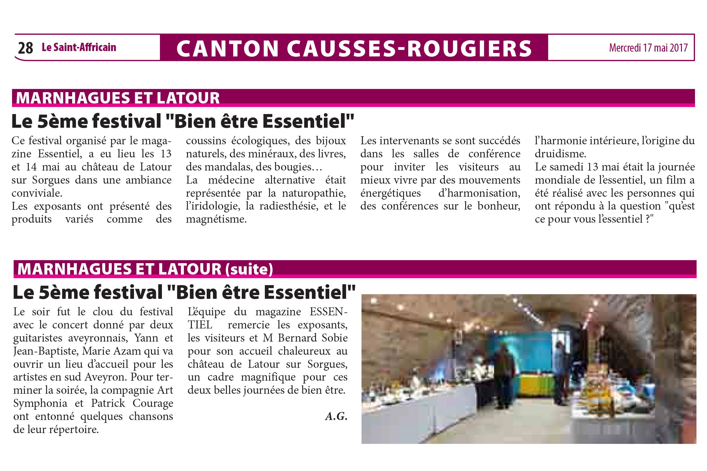 article festival st affricain